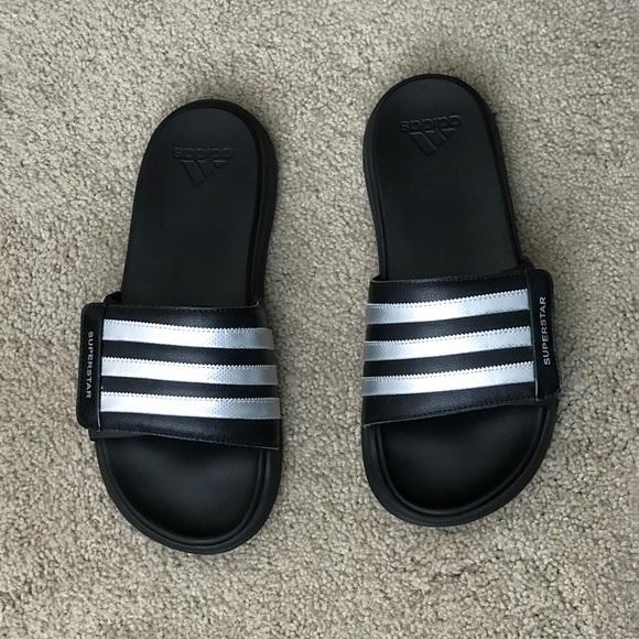 7921d0b62c44 ... where to buy adidas superstar 4g black sliders sandals. 489e2 10602